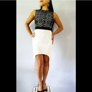 ASOS Black & White Laser Cut Dress